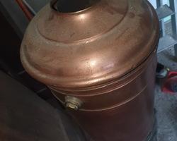 Chauffe eau en cuivre fin du 19ème