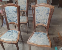 Series of 4 Art Nouveau walnut chairs attributed to Georges De Feure  dating from the early 1900s