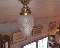 Ceiling lamp from the 20s  in brass