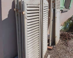 4 pairs of louvered shutters with rounded top  late 60s