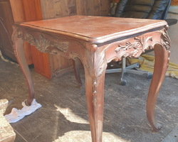 Louis XV style rosewood center table  Napoleon III period  Restored