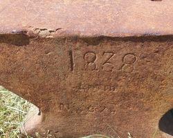 enclume du 19ème ( datée 1838)