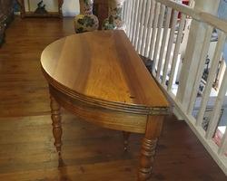 Table 4 half moon legs in half moon walnut  e the Louis Philippe period