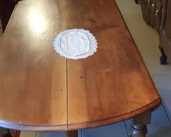 Grande table 6 pieds en noyer Louis Philippe