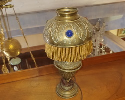 Oil lamp late 19th in brass