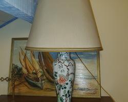 Grande lampe avec pied en Faïence des années 50