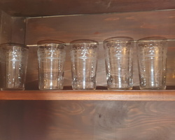 5 Baccarat crystal goblet shaped glasses from the end of the 19th century