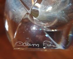 suite de 9 verres à eau signés DAUM
