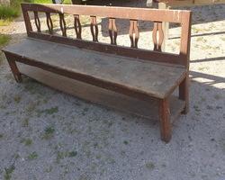 Bench originally located next to a fireplace