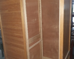 File cabinet with 2 oak curtains   from the 30s