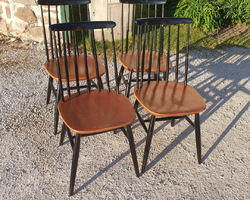 Suite of 4 Swedish chairs by designer TAPIOVAARA  From the 50s / 60s  In very good shape