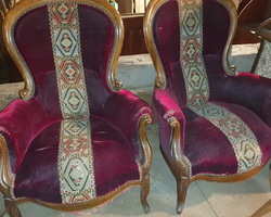 Pair of Bergère in walnut  Napoleon III period