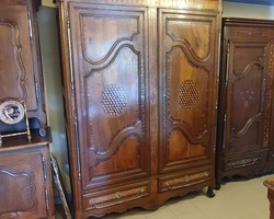 Lorraine cabinet in walnut inlaid early 19th