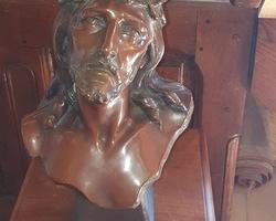 Buste du Christ signé R.AURILI vers 1900
