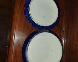 Bonbonnière bleu en porcelaine