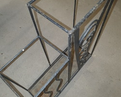 Art deco wrought iron umbrella stand  I