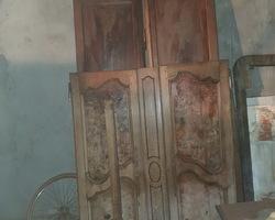 19th Bressane wardrobe with elm burl panels