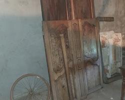 Armoire Bressane 19ème avec panneaux en loupe d'orme
