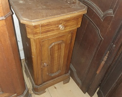 Late 19th century fir bedside table  painted faux wood