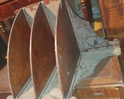 Etagère d'angle galbée alsacienne fin 19ème