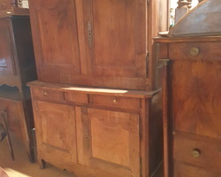19th century sideboard in walnut  louis XV style