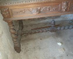 Henry II flat desk   Oak