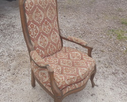 Voltaire armchair   sold as is