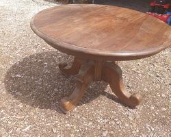 Table pied central en chêne 19ème