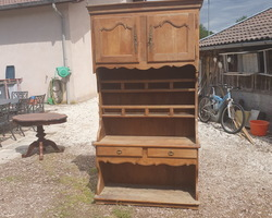 Vendée dresser in cherry wood dating from the mid 19th century