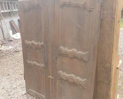 Paire de porte d'armoire lorraine en chêne