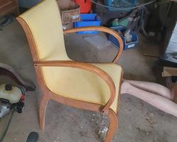 Bridge armchair from the 50s  beech frame
