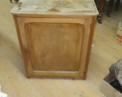 Walnut cabinet with one door  around 1920