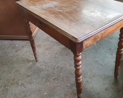 Small flat walnut desk  around 1930