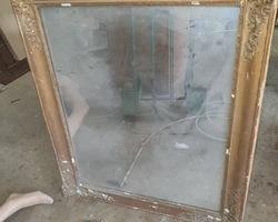 Miroir doré rectangulaire mi 19ème