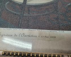 gravure signature de l'armistice