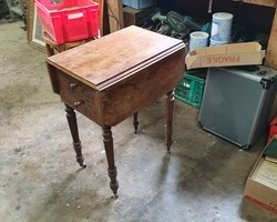 Napoleon III period mahogany shuttered bedside table
