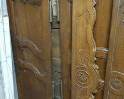 Lorraine cabinet in oak 19th 3 panels