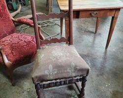 Chair from the Burgundy region in walnut  19th