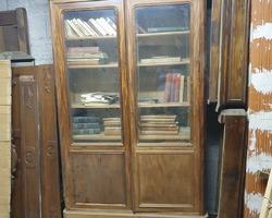 Bookcase 2 doors Napoleon III in mahogany