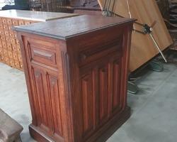 1900s oak haberdashery counter