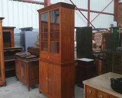 meuble alsacien 2 corps restauration en merisier