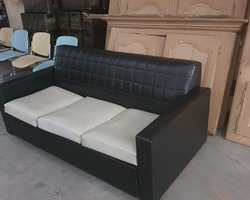 70s convertible sofa  black and white as new