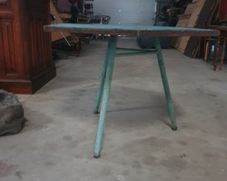 2 tables from the 60s  tube base  from a factory refectory