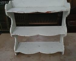 White painted beech shelf