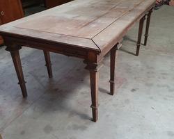 rectangular oak table at 8 feet