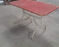 Rectangular metal table