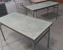 3 rectangular community tables