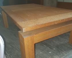 Table basse des années 80 en chêne