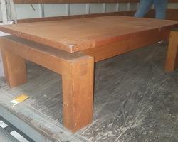 80s oak coffee table