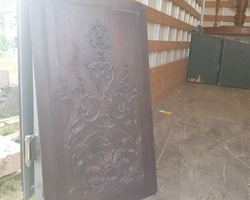 renaissance wood panel in oak